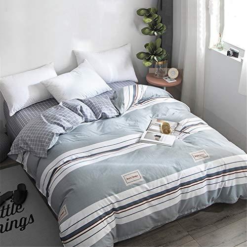 KLLT Uniek, 100% katoen, dekbedovertrek, voor 1 persoon, slaapzaal, bed met overtrek voor kinderen, leerlingen, beddengoed, slaapkamer, dubbeldeken, sprei