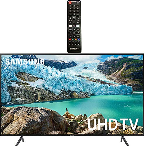 """Samsung Smart TV 58"""" inch 4K UHD Flat Screen TV (UN58RU7100FXZA) with HDR, Google, Apple & Alexa Compatible + Remote with Netflix & Prime Buttons for Samsung TV"""
