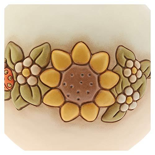 THUN - Lampada da Tavolo e Comodino, Abat-Jour Camera da Letto, con Decorazione Floreale - Accessori per la Casa - Linea Country - Formato Grande - Ceramica - 53 h cm