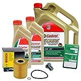 1set per cambio olio–BOSCH filtro olio + 7L di olio Castrol Edge FST 5W-30LONGLIFE