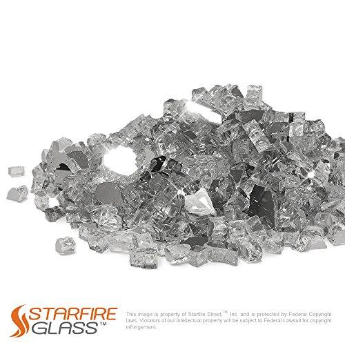 Starfire Glass 10-Pound Fire Glass 1/2-Inch TitaniumReflective