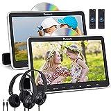 "NAVISKAUTO 10.1"" Car DVD Players with HDMI Input 2 Headphones Mounting Brackets Support Last Memory Region Free (2 Headrest DVD Players)"
