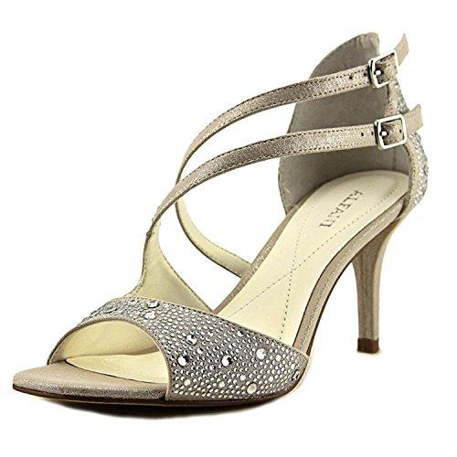 Alfani Womens Cremena Open Toe Special Occasion Strappy, Silver, Size 8.0
