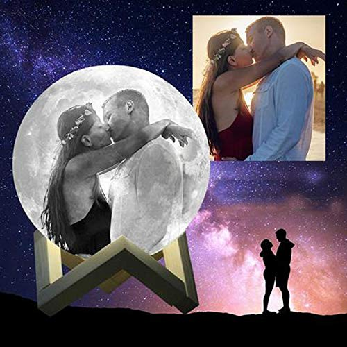 RMFSH Custom Moon Light Personalized Moon Lamp Moon Light with Picture...