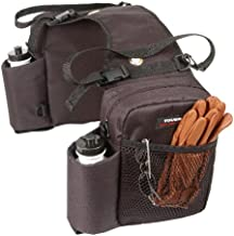 Tough 1 Nylon Water Bottle/Gear Carrier Saddle Bag, Black