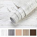Holztapete selbstklebende Folie Wandtapete Holz Klebefolie Möbelfolie 0.61 * 5M Tapeten Küchenfolie Wandaufkleber Aufkleber aus PVC Farbe B