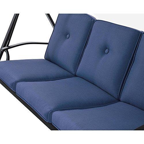 Mainstays Belden Park 3-Person Hammock Swing - Blue