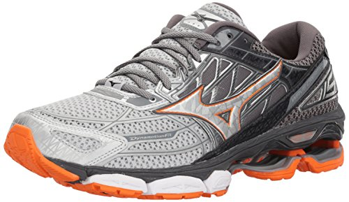 Mizuno Men's Wave Creation 19 Running Shoes, Silver/Diamond, 8 D US