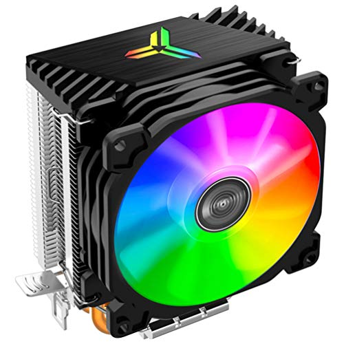 SOLUSTRE Lga 775 CPU Cooler Fan Silencioso RGB Fan 12V High Airflow 2 Hotpipes RGB Tower CPU Fan Tower para Computadora