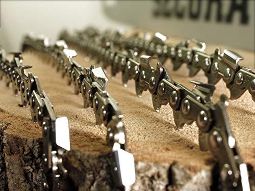 SECURA 4 Stück Sägekette 3/8 35cm 1,3 mm für Stihl | Kettensäge Ersatzkette 35cm 14 Zoll 50 Treibglieder | Kettensägenketten Halbmeisselausführung | Sägeketten Stihl Sägekette MS230 MS180