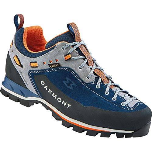 GARMONT M Dragontail MNT GTX Blau, Herren Gore-Tex Hiking- und Approachschuh, Größe EU 46.5 - Farbe Dark Blue - Orange