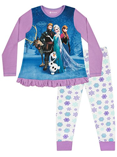 Disney Pigiama a Maniche Lunghe per Ragazze Frozen 4-5 Anni