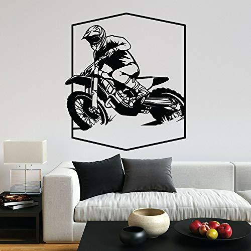 Motocross Racing pared calcomanía motociclista deportes extremos vinilo pegatina para ventana coche Club gente cueva decoración del hogar arte