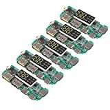 AITRIP 5pcs 18650 Battery Charger Protection Module, Power Bank PCB Module Board, Dual USB 5V 2.4A with BMS Protection DIY Mobile Charging Accessories Digital LCD Display Indicator