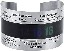 FTVOGUE Stainless Steel Wine Temperature Bracelet Thermometer Bottle Beer Temperature Bracelet Sensor for Beer Home Brewing
