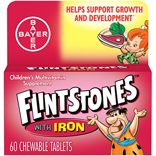 Flintstones Chewable Kids Vitamins with Iron, Multivitamin for Kids & Toddlers with Vitamin D, Vitamin C & More, 60ct