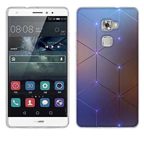 FUBAODA für Huawei Mate S Hülle, [Elektromagnetischer Diamant] für Huawei Mate S UltraSlim Hülle TPU Case Weiches Silikon Schutzhülle Tasche Bumper Cover Handy hülle fürr für Huawei Mate S