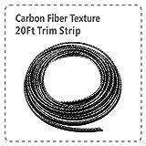 Mr.Brighton LED Carbon Fiber Texture Car Interior Decorative Molding Door Panel Gap Trim DIY Flexible Strip with Free Installation Tools (20Ft)