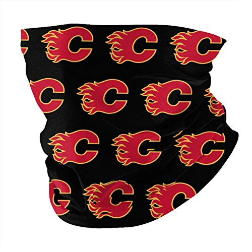 Cccccccocccc Calgary-Flames-Logo Face Cover Multipurpose Neck Gaiter, Bandana for Dust Headband Magic Scarf Head Wrap Neck Warmer