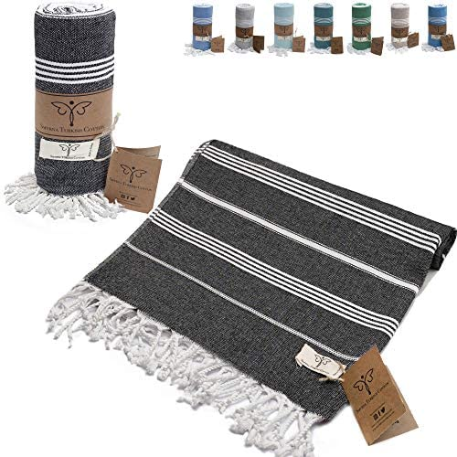 Smyrna Classical Series Original Turkish Beach Towel 100 Cotton Prewashed 37 x 71 Inches Peshtemal product image