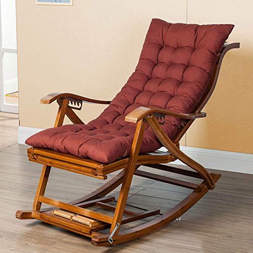 WFFF Sillón reclinable Cómodo sillón Mecedora Relax, con diseño de reposapiés, Cojín de Tela de polialgodón