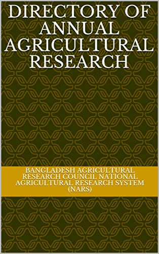 Directory of Annual Agricultural Research (English Edition)