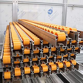 Ochoos Aluminium with Plastic Chain Conveyor Belt Roller Track Wheel Industrial Silding Rail