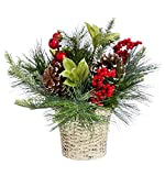 Cypress Home Holly And Pinecone Tabletop Floral Décor...