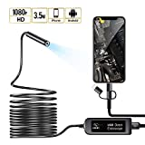 Vista /& XP-16.4ft//5M Equipped 8.0mm Lens and 3 in 1 USB//Micro USB//Type-C for HD Borescope Interface USB Endoscope 3 in 1 Borescope Win7 Win8 Waterproof Endoscope Camera for Android