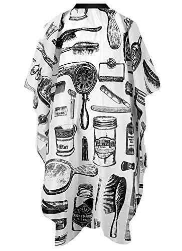 Crazy Bean Tablier Coupe Cheveux Homme Cape De Cheveux Tissu éTanche Salon Tissu De Coiffeur Salon Coiffure Coupe De Cheveu Tissu Coiffure Professionnel