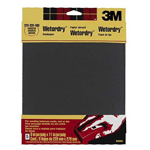 3M WETORDRY verschiedene Körnungen Schleifpapier, 230x 280mm–1Stück (4Blatt)