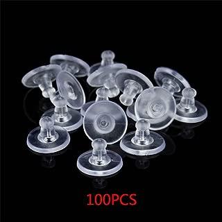 100 Piezas de Tapones de Silicona Transparente para Pendientes, Orejas, Tuercas, Joyas, regar, Show, Show