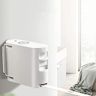 RINGO 2019最新デザイン 室内物干しワイヤー 洗濯物干し 自動伸縮縄 穴開け不要 巻き取り 壁付 省スペース収納