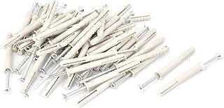 X-DREE Plastic Wallboard toggle-r Snaptoggle Ribbed Anchors Bolt 50 Pcs (5ba74d12-a222-11e9-8d7c-4cedfbbbda4e)
