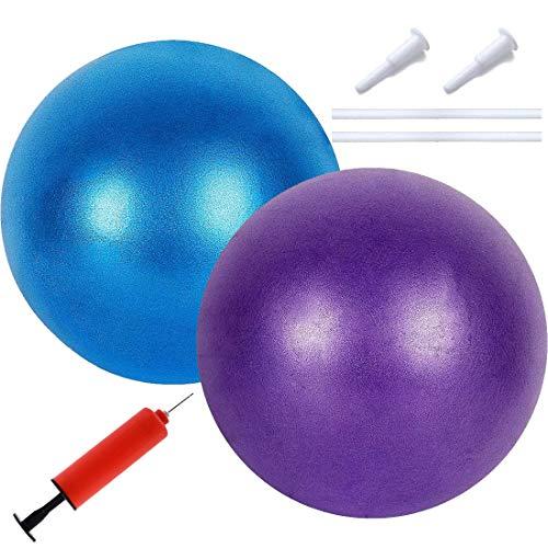Weicher Pilatesball - YUESEN 2 Pcs Mini Gymnastikball, 1Pcs Luftpumpe, Gymnastikball Yoga Pilates Ball Kleine Übung Ball, Perfekt für Biegeübungen, Yoga, Stabilität, Heim, Büro