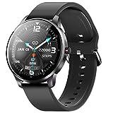CUBOT W03 Smartwatch, Reloj Inteligente para mujeres / hombres, pantalla táctil de 1,28 pulgadas, impermeable IP68 podómetro con monitor de sueño, Ritmo Cardíaco, para Android / iOS, Negro