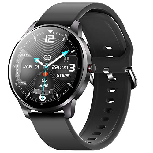 CUBOT W03 Smartwatch, Fitness Tracker für Damen/Herren, 1.3 Zoll Touchscreen, IP68 Wasserdicht Schrittzähler mit Schlafmonitor, für Android/iOS, Schwarz