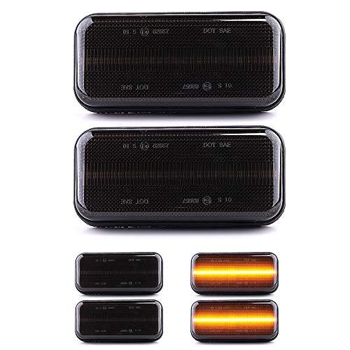 LIGHTDELUX Ersatz für 2 X LED Seitenmarkierungsleuchte Begrenzungsleuchte Umrissleuchte mit E4-Prüfzeichen Black Vision V-170775