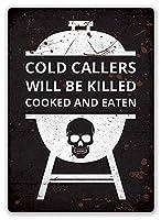 コールドコールャーを殺して調理し、食べたティンサインの壁鉄の絵レトロプラークヴィンテージメタルシート装飾ポスターおかしいポスターハンギングクラフトバーガレージカフェホーム