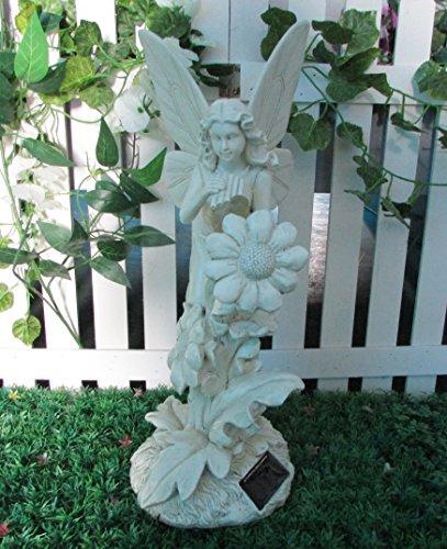 Garden Solar Fairy & Bird Ornament Memorial Grave Gravestone Gift Garden...