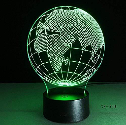 3D-Karte aus Asien & euml; Lampe LED Nachtlichter als Innendekoration mehrere Farben Geburtstag Dekor Geschenk Fernbedienung