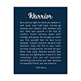 'Be A Warrior-Fight For What You Believe In' Inspirational Quotes Wall Art -8 x 10' Fierce Motivational Wall Print-Ready to Frame. Great Home-Office-Studio-Dorm Decor. Perfect Gift of Motivation!