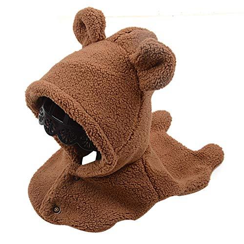 kyman Sombrero Gorra bebé niños cálido Invierno Tejido Peluche Beanie Sombrero Lindo Oreja Cubierta Chal Tapa de esquí para 2-6 años Sombrero de Punto (Color: marrón) (Color : Brown)