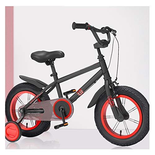 LFFME Bicicletas Ninos De 14 A 18 Pulgadas para Niños De 3 A 9 Años Bicicleta De Entrenamiento para Niñas Y Niños, Asiento Y Manillar Ajustables con Freno Doble,A,18