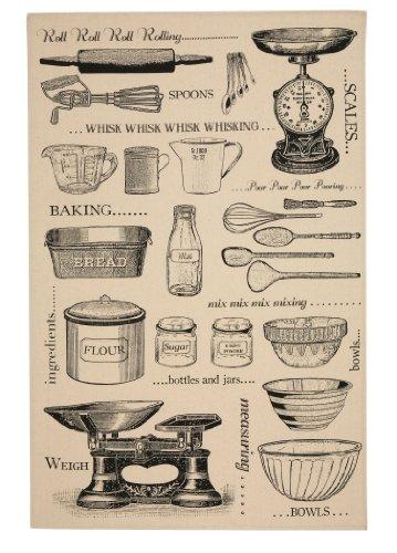 Ulster Weavers Baking Unbleached Cotton Tea Towel Geschirrtuch, ungebleichte Baumwolle, Mehrfarbig