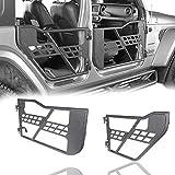 Hooke Road Wrangler JL Gladiator 4 Doors Tube Half Door Guards Compatible with Jeep Wrangler JL Unlimited   Gladiator JT 2018 2019 2020 2021