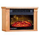 Heat Surge Mini Glo Portable Electric Fireplace Heater, Remote Control - Light...