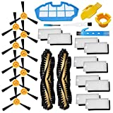 Theresa Hay Accessories Kit for Ecovacs Deebot N79S N79 Robotic Vacuum Cleaner Filters, Side Brushes,Main Brush … (2+1+10+10)