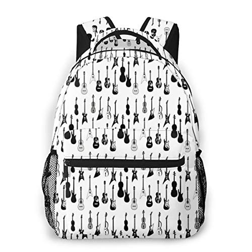 Laptop Backpack Casual Backpack Daypacks Computer Business Backpacks Travel Backpacks Bag Hiking Daypack College School Bookbag Work Bag Strings Types Acoustic Electronic Guitar Cello Violin