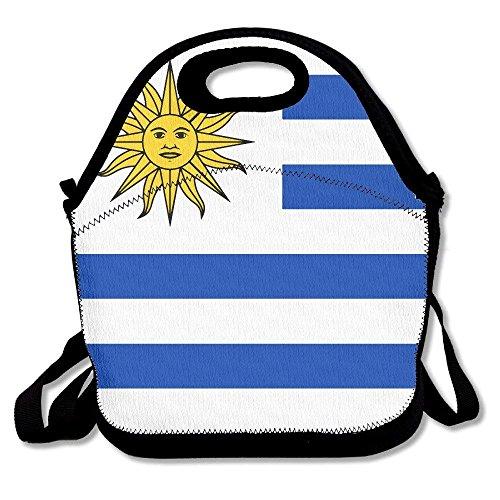 keben Bolsa de Almuerzo Caja de Almuerzo, Bandera de Uruguay Bolsa de Asas de países, Bolsas de Almuerzo Personalizadas Frescas para la Escuela de los niños al Aire Libre, 27.5x29x14.5cm
